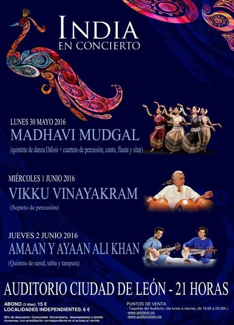 """Cartel """"India en concierto"""""""