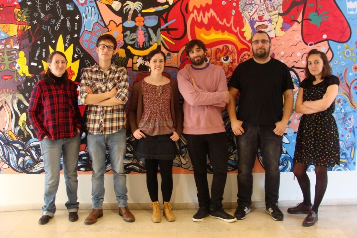 Estibáliz Gómez, Isaac González, Victoria Alonso, Talh Primo, Jorge Consuegra y Virginia Díez. Fotografía: l. Fraíle