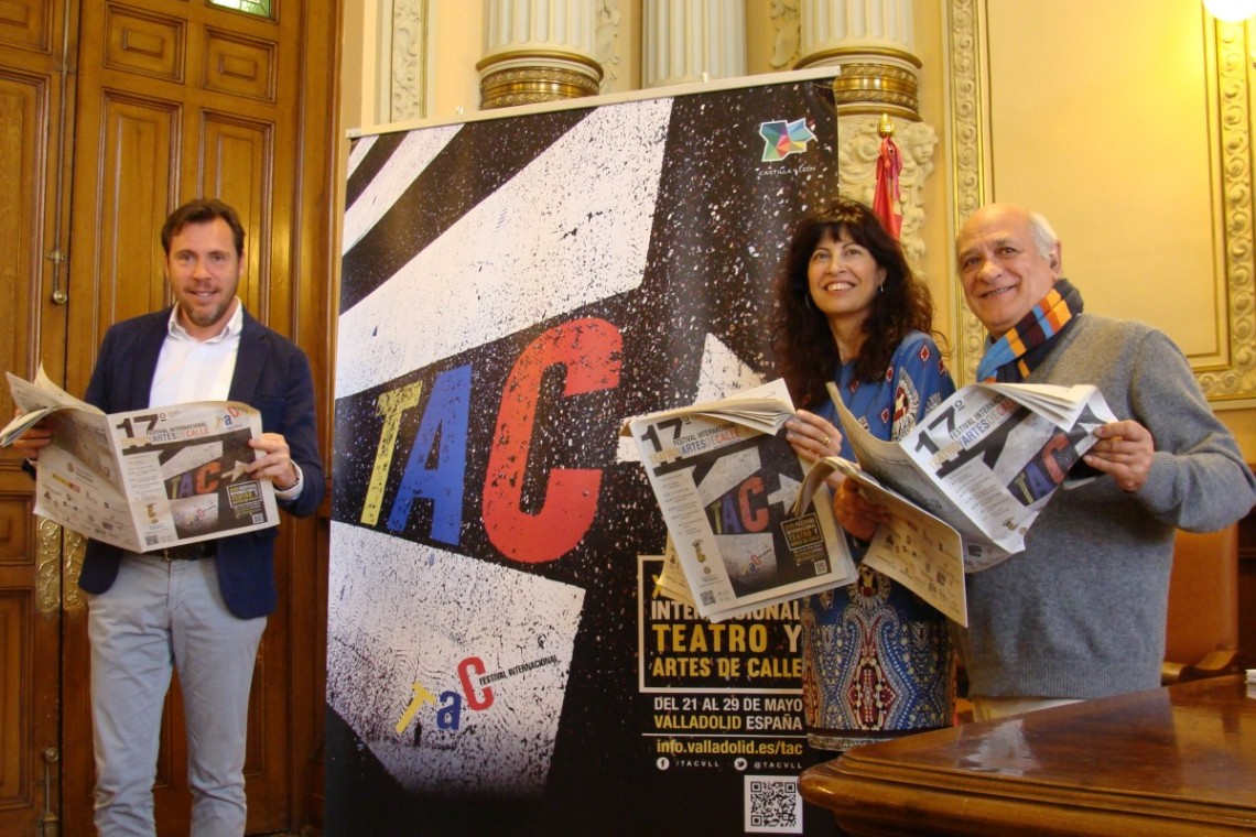Óscar Puente, Ana Redondo y Javier Martínez durante la presentación de El Comediante. Foto: Laura Fraile.