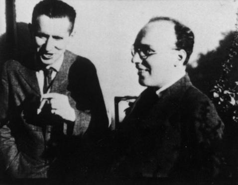 Kurt Weill y Bertolt Brecht.