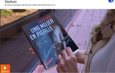 Haz un click para ver el reportaje sobre la novela en el Telediario de TVE.