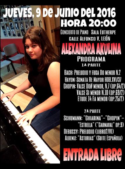 La pianista Alexandra Akulina.