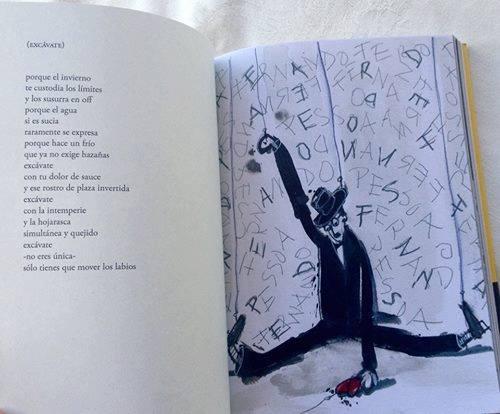 Interior del libro, con ilustración de Ricardo Ranz.