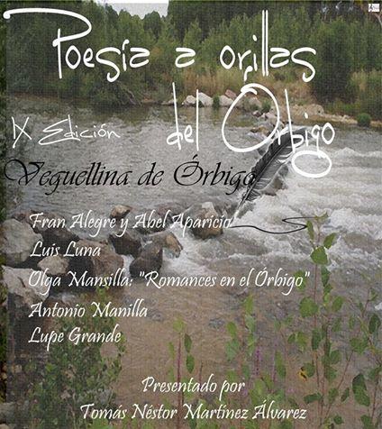 """Cartel """"Poesía a orillas del Órbigo""""."""