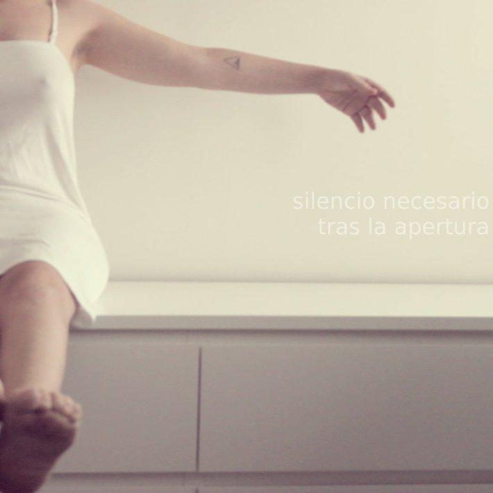 """#Incómodasíntesisdeunapostura / Tema 5: """"Silencio necesario tras la apertura""""."""