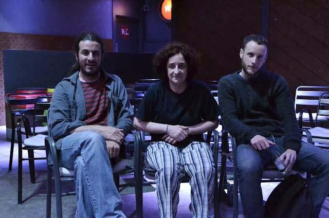 Los músicos Jorge Frías y Chefa Alonso y el artista audiovisual Adrián Abril.