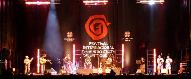 El grupo leonés en el Festival de Ortigueira.