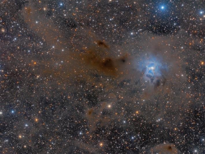 Nebulosa Iris en la constelación de Cefeo.