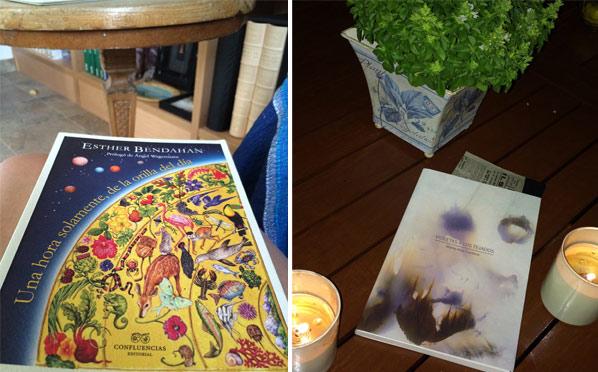 Portadas de los libros de Esther Bendahan y María José Cordero.
