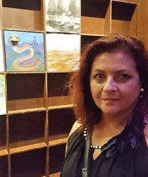La artista leonesa Eugenia Navajo. Fotografía: Bego. Pérez.