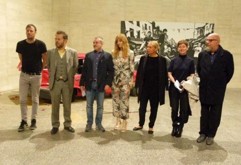 De izquierda a derecha: Ilan Manouach, Pontus Kyander, Manuel Olveira, Mar Sancho, Dobrila Denegri, Montserrat Rodríguez y Darío Corbeira.