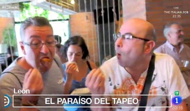 """""""León, paraíso del tapeo"""", en la tele."""