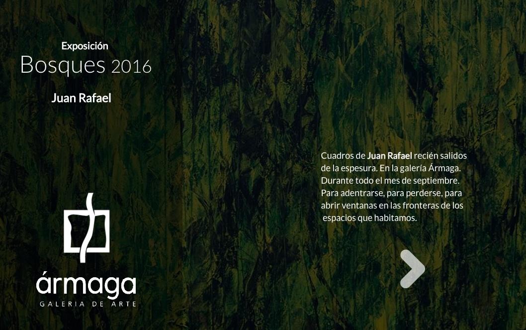 Presentación interactiva de la exposición de Juan Rafael, por Manuel Álvarez (Infographica). Haz un click en la imagen.