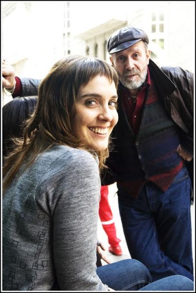 Leire Bilbao, con Karlotti Valle, en Ferrol.