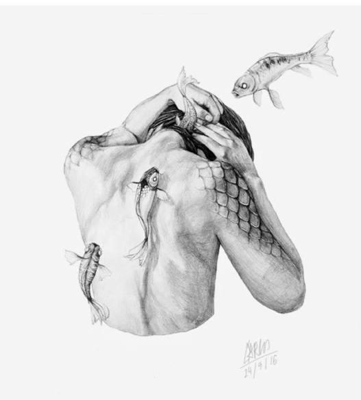 © Ilustración: Dibujo sobre papel de Carlos Morcillo Santero, de Moraleja, (Caceres).