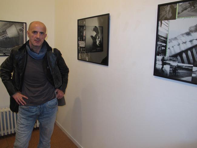 José Granizo, en enero de 2013, durante la inauguración de la exposición  'París-Marie' en El Albéitar.