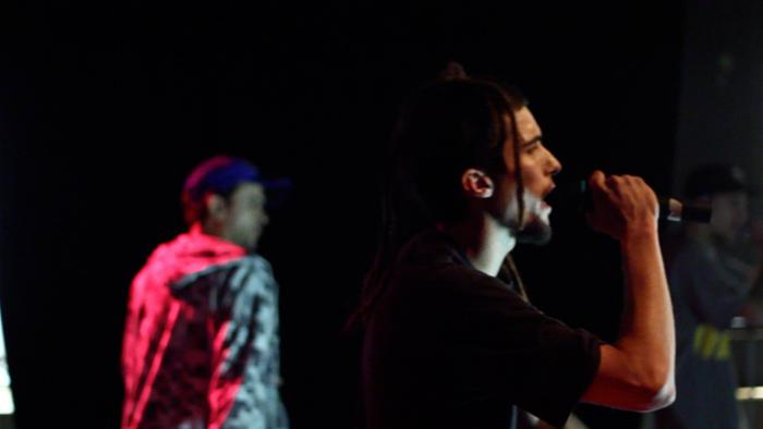 Pervertidos Elegantes en concierto [Espacio Vías, noviembre de 2012]. Fotografía: Santxez.