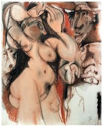 Una de las obras de Álvaro Delgado que se muestran en la Sala Provincia de León.