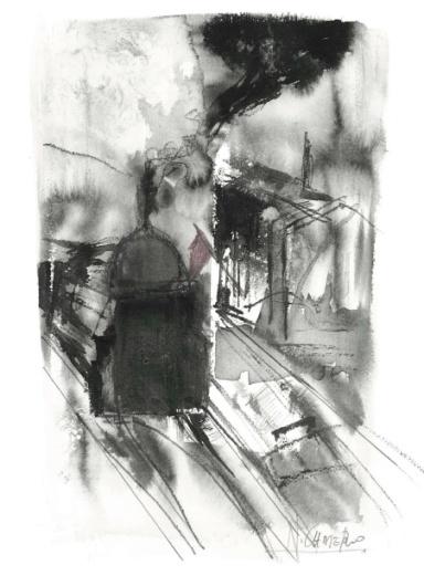 Ilustración de Nuria Cadierno en una página del libro.