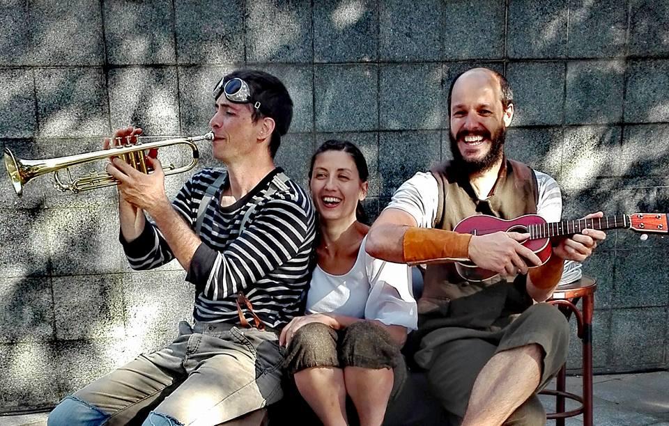 Pablo Parra, Elena Cennerelli y Víctor Martínez. (Foto tomada de su FB).