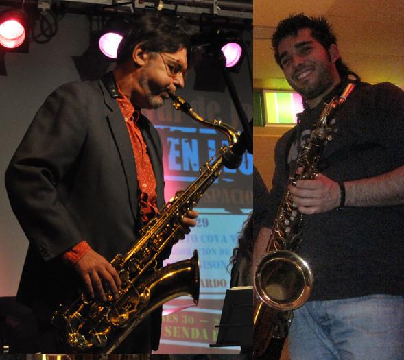 Saxomanía. Ildefonso Rodríguez [izquierda] y Rubén Díaz. Fotografía: Cortesía de los artistas.