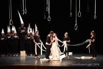Escena de La Flauta Mágica en el teatro Aveirense (Aveiro). Fotografía: Benedita Portugal.
