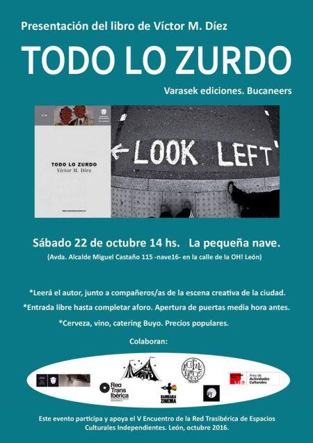 Cartel de la presentación en León.