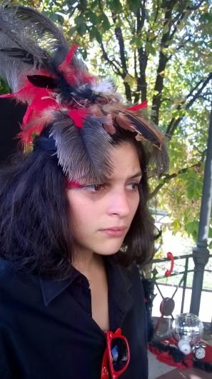 Andrea Soto, actriz de ANT, en el festival Urogallo (León, 2016). Foto: E. Otero.