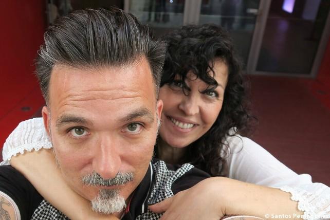 Santos Perandones y Cecilia Quílez.
