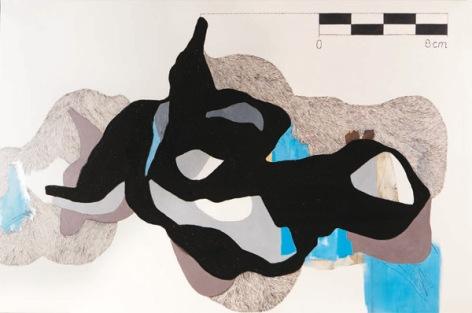 Obra de Patricia Sandonis. Boceto I. Técnica Mixta sobre tela. 97 × 146 cm.