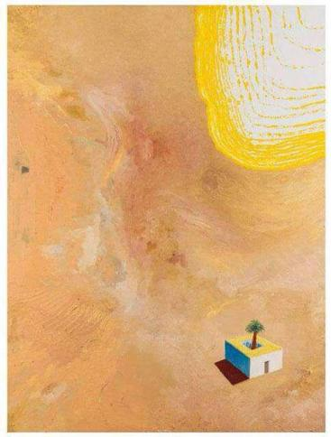 """""""La casa del pintor en el desierto"""". Obra de Pelayo Ortega."""