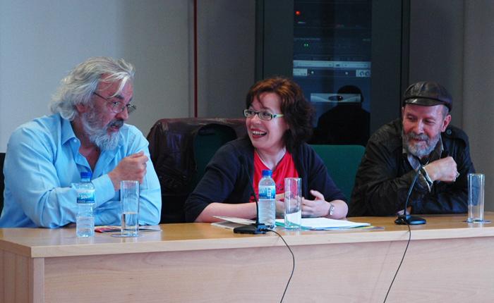 Guillermo Ferrández, María do Cebreiro y Karlotti Valle.