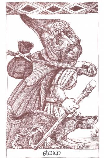 """Grabado de la carpeta """"Trece de los llamados Arcanos mayores..."""" de Manuel Jular. Haz un click."""