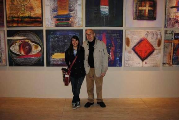 Ana Vaquero Prieto y Manolo Jular en el Museo de León.