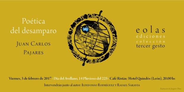 """Presentación de """"Poética del desamparo"""" el 3 de febrero de 2017 en León. Haz un click..."""