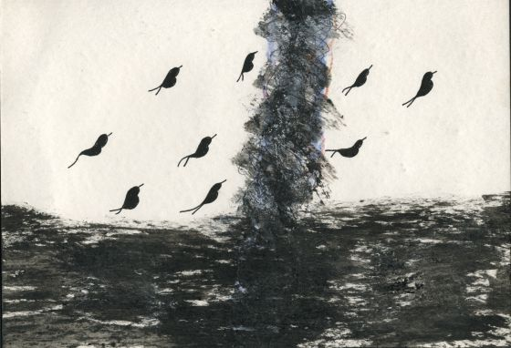 """""""Ciclón"""". Dibujo de José-Miguel Ullán."""