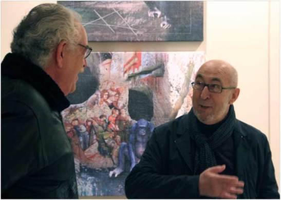 Juan Campal y Manolo Jular, en el Museo de León.