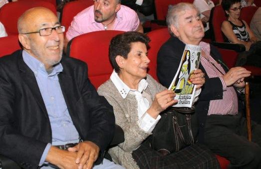 Manuel Jular, Ángeles Lanza y Antonio Gamoneda.