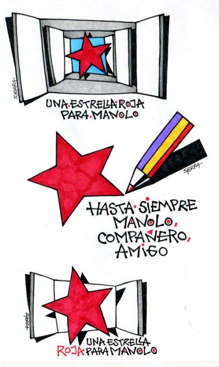 Tres dibujos de Manuel Sierra para Manuel Jular.