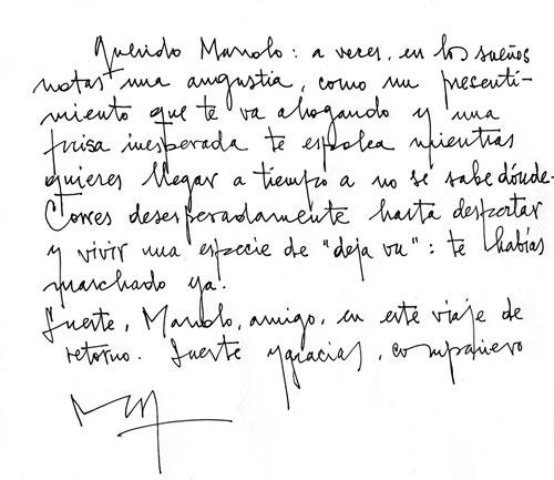 Carta de Manuel Sierra para Manuel Jular.