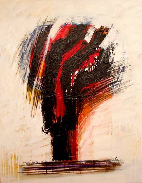 """Árbol del sí y del no"", una obra de Manuel Jular del 2002, donada al ILC."