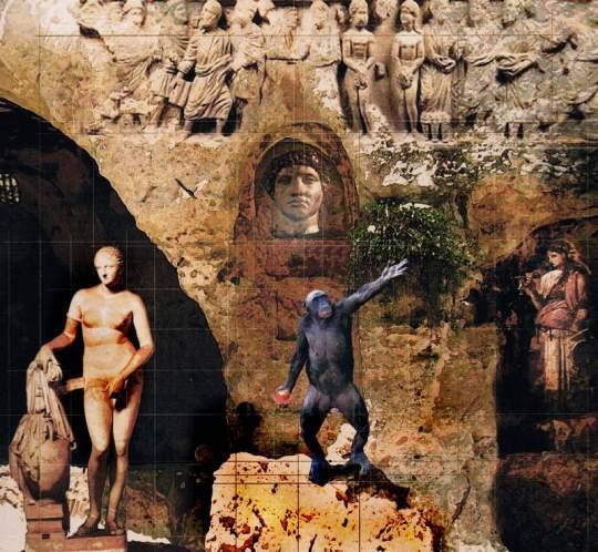 Una de las obras de la exposición 'Descensus ad Inferos', de Manuel Jular (2012).
