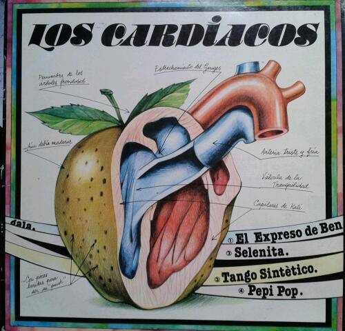 Portada de Manuel Jular para el disco de Los Cardiacos en 1982.
