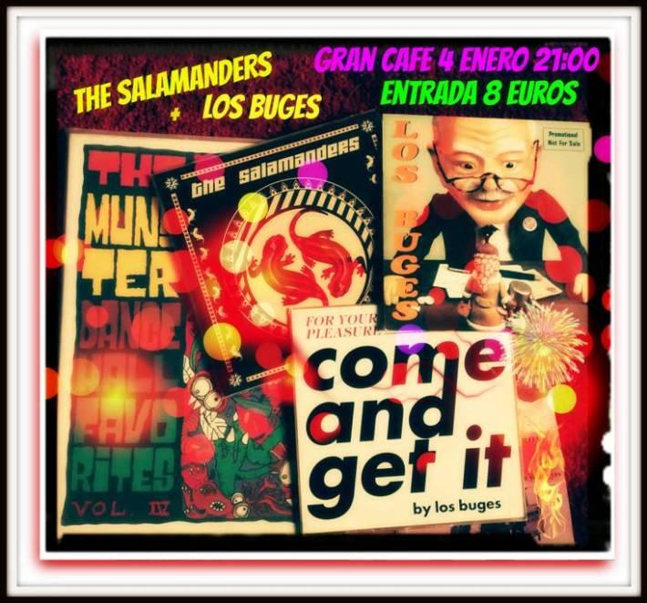Cartel concierto The Salamanders y Los Buges