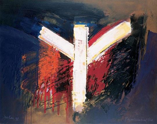 """""""Presentimiento del Grial"""". Obra de Manuel Jular (1998),"""