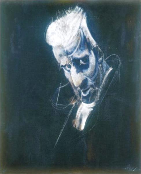 Retrato de Leopoldo Mª Panero, por Álvaro Delgado.