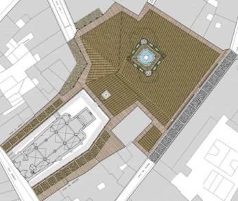 Plano de la planta Plaza del Grano. Fuente: Ayuntamiento de León.