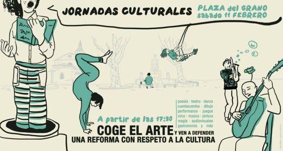 Sábado 11 de febrero. Cultura en la Plaza del Grano.