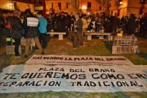 """Manifestación """"Salvemos la Plaza del Grano"""". 23-II-2017. Fotografía: Marcelo Óscar Barrientos Tettamanti."""