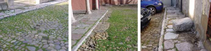 Fotografías del estado previo de la plaza y su acerado. Fuente: Ayuntamiento de León.